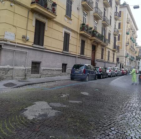 Sanificazione Napoli via Andrea d'Isernia
