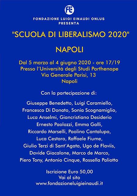 Scuola di Liberalismo 2020 Fondazione Einaudi
