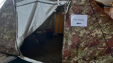 Tenda pre-triage