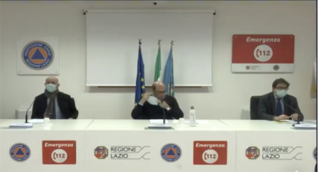 Daniele Leodori, Nicola Zingaretti e Alessio D'Amato