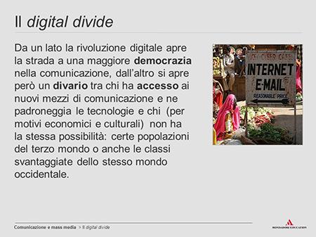 Digital divide - ph Mondadori Education