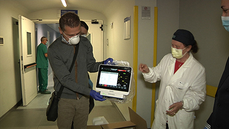 Donazione monitor Confagricoltura Frosinone