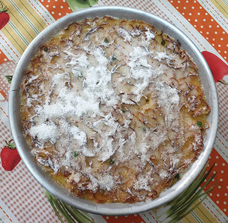 Pastiera di tagliolini dolce dolce