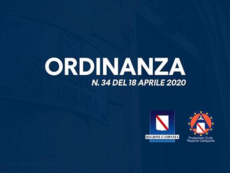 Regione Campania Ordinanza n. 34 del 18/04/2020