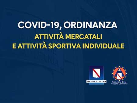 Covid-19 Campania attività mercatali e attività sportiva individuale