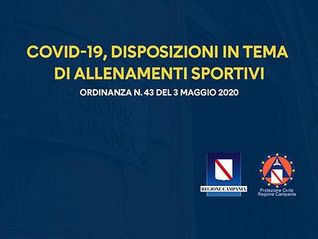 Covid-19 Campania, ordinanza n.43 del 3 maggio 2020