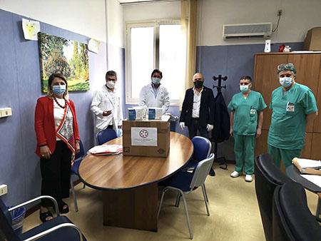 Mascherine ospedale di Caserta