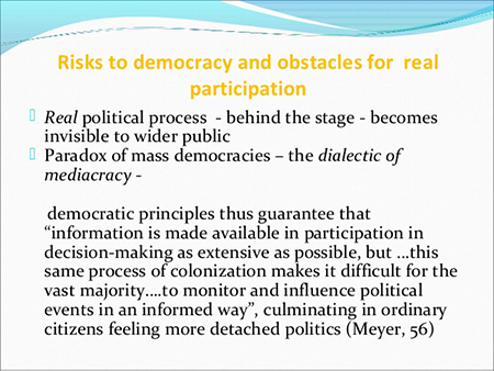 Rischio per democrazia