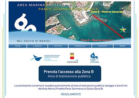 Area Marina protetta Gaiola prenota accesso