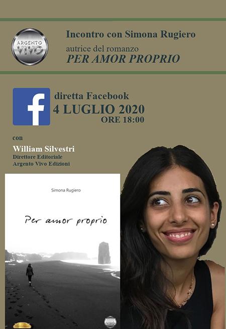 Incontro con Simona Rugiero autrice di 'Per amor proprio'
