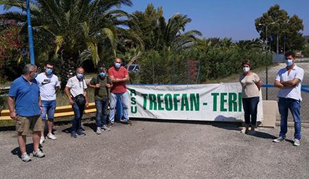Lavoratori Treofan Terni in presidio Battipaglia (SA)