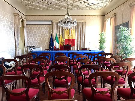 Sala Giunta Palazzo San Giacomo a Napoli