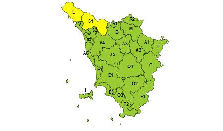 Toscana codice giallo 07/06/2020