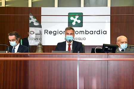 Attilio Fontana, Alessandro Fermi e Pietro Bassetti