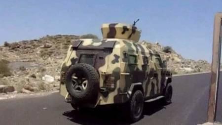 blindato esercito Yemen