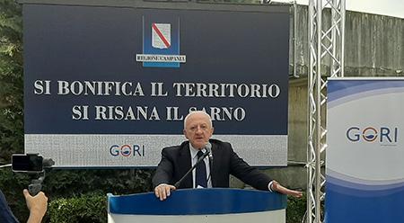 Bonifica fiume Sarno - Vincenzo De Luca
