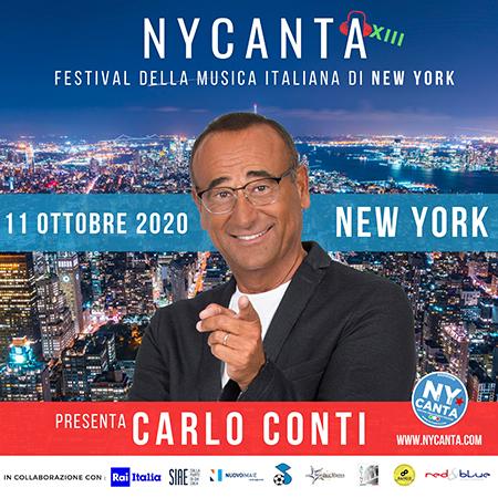 Carlo Conti presenta NYCanta, XIII edizione, il Festival della Musica Italiana di New York