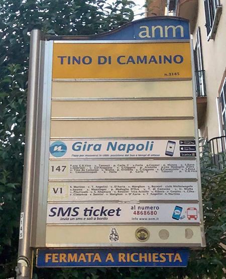 Napoli, via Tino di Camaino, palina ANM non aggiornata