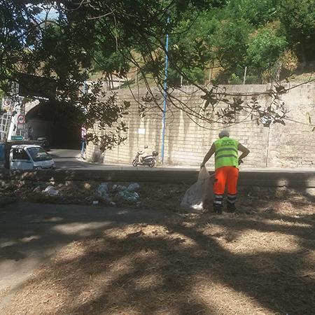 pulizia straordinaria dei Giardini della Principessa Jolanda