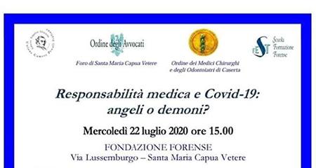 Riceviamo e pubblichiamo. 'Responsabilità medica e Covid 19: angeli o demoni?'
