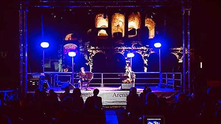 Il palco dell'Arena Spartacus Festival