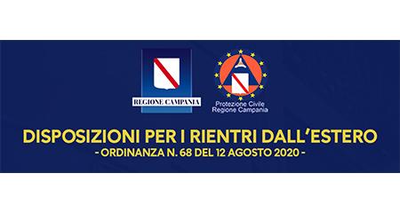 Card Covid-19 Campania Ordinanza n.68 del 12-08-2020