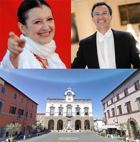 Carla Fracci e Nino Graziano Luca a Nepi (VT)