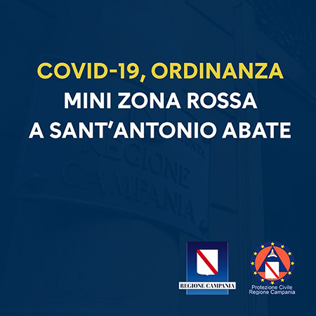 Covid-19 Campania: mini zona rossa a Sant'Antonio Abate (NA)