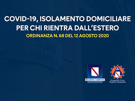 Covid-19 Campania, Ordinanza n.68 del 12-08-2020