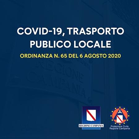 Covid-19 Campania, Ordinanza trasporto pubblico locale Ordinanza n.65 del 06-08-2020