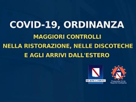 Covid-19 Campania, Ordinanza n. 64 del 31 luglio 2020