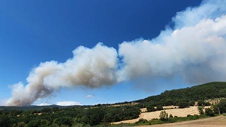 Incendio Civitella Paganico (GR)
