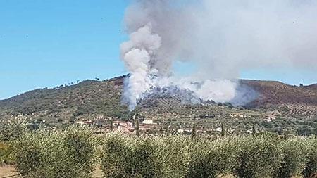 Incendio Pilistri a Cortona (AR) agosto 2020
