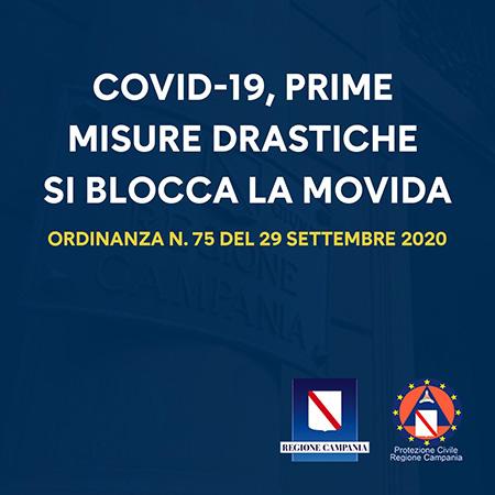 Covid-19 Campania, Ordinanza n.75 del 29 settembre 2020