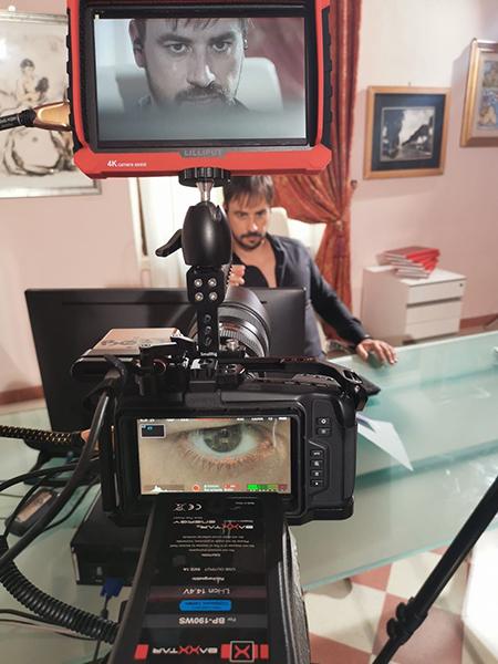Iago Garcia sul set di 'Reverse'