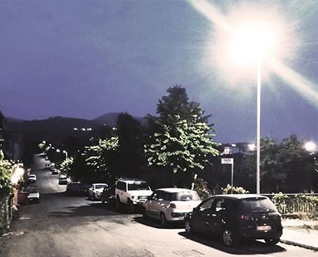 LED in via Insito a Cori (LT)