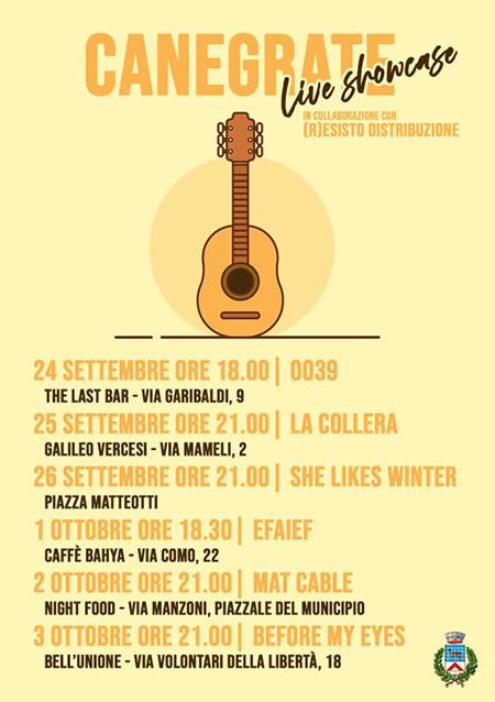 'Live Showcase' a Canegrate (MI)