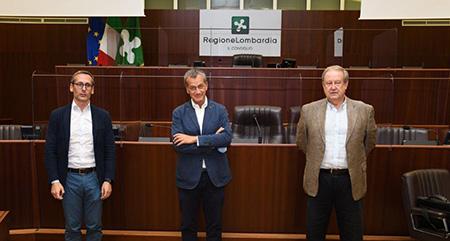 Mauro Piazza, Gian Antonio Girelli e Marco Mariani