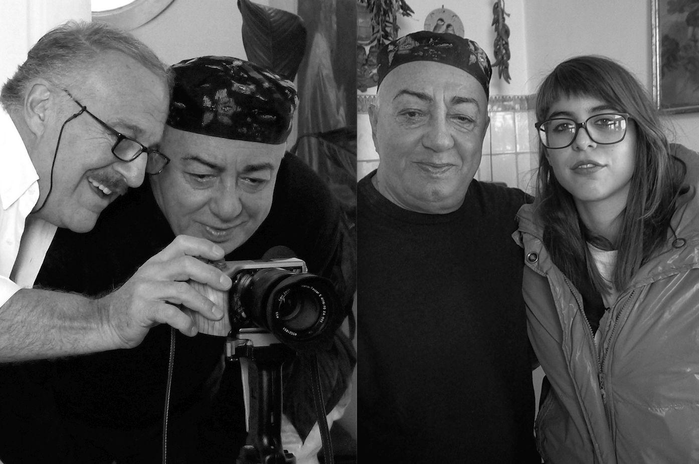 Peppe Barra con Augusto De Luca e Giulia De Luca