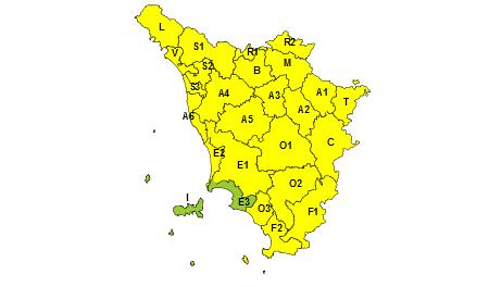 Toscana codice giallo