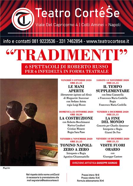 'Tradimenti' al Teatro Cortese