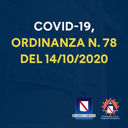 Covid-19 Campania, Ordinanza n.78 del 14 ottobre 2020