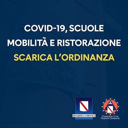 Covid-19 Campania, Ordinanza n.85 del 26 ottobre 2020