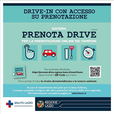 Covid-19 Lazio, prenotazione drive-in