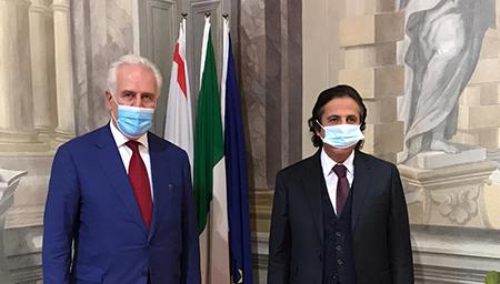 Eugenio Giani e Sheikh Azzam Mubarak Sabah Al-Sabah