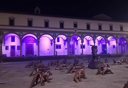 Loggiato Istituto degli Innocenti di Firenze - ph Mauro Sani