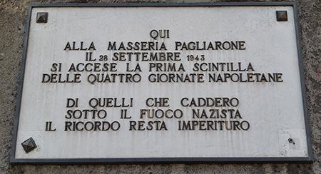 Masseria Pagliarone-targa Quattro giornate di Napoli