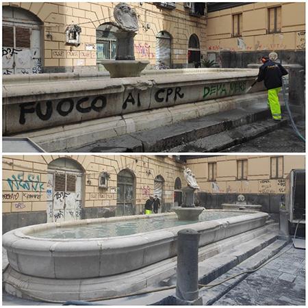 Napoli, fontana della Scapigliata