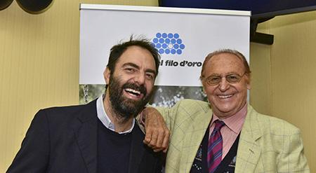 Neri Marcorè e Renzo Arbore testimonial della Lega del Filo d'Oro