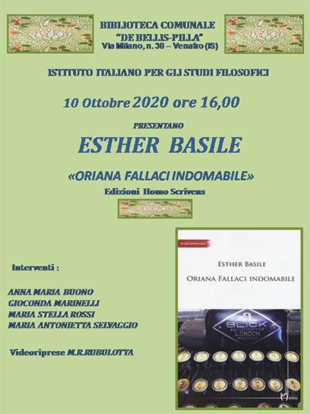 'Oriana Fallaci indomabile' alla Biblioteca Comunale di Venafro (IS)